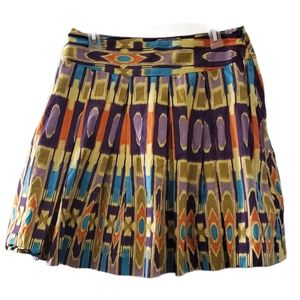 W Work To Weekend Multicolored Circle Skirt 10
